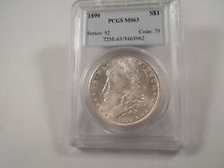 1899 Morgan Silver Dollar Pcgs Ms63 White Very Solid Stamp Better Date