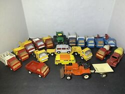 Vintage Mini Construction Trucks Lot Tonka/made In Japan/others Please See Photo