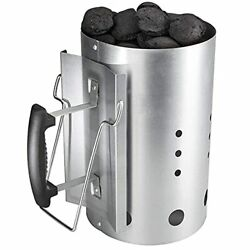 Bisgear Rapid Charcoal Chimney Barbecue Fire Starter Set Bbq Grill Lighter Grill
