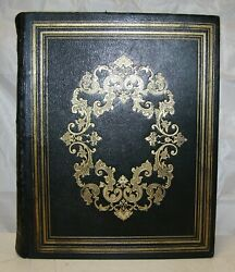 1850 Large Antique Family Holy Bible