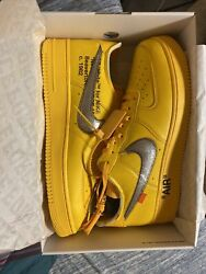 Nike Air Force 1 Off White University Gold Size 14