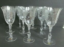 Cambridge Rose Point Crystal 8 1/4 Water Goblets Glasses- Set Of 10 - 4 Nwt