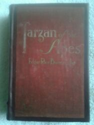 Rare Signedtarzan Of The Apes Burroughs 1914/ 1st Stateleather Backed Vg
