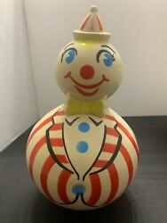 1950s Vintage Weeble Wobble Clown Toy, Good Vintage Condition, Free Ship