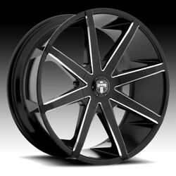 22and039and039 Dub Push S109 Black Milled Goodyear Tires Silverado Tahoe Escalade F150 Xl