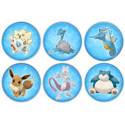 6pcs Cartoon Silver Plated Coins Souvenir Gift Metal Crafts Badge For Collection