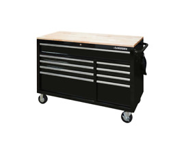 Husky Mobile Workbench 52 In. W 9-drawer Deep Tool Chest In Gloss Black