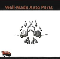 Corsa 304 Ss Cat-back Exhaust System With Quad Rear Exit For 14-21 Jeep 14992