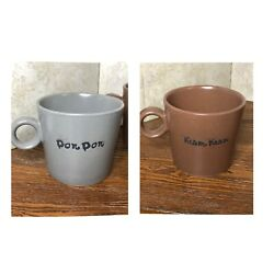Pets @ Work Coffee Mugs Kam Kam Cat And Don Don Dog Ring Handles Face Inside