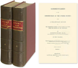 Joseph Story / Commentaries On The Constitution Of The United States.. 54297