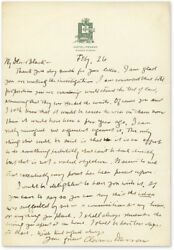 Clarence Darrow / Autograph Letter Signed To Black With The Story Of My 63289