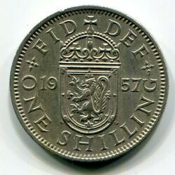 Foreign Coin - Great Britain - One Shilling 1957 Scottish Crest