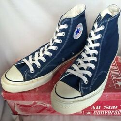 70s Converse Chuck Taylor One Star Blue 1-9642 Size Us9.5 W/box From Japan