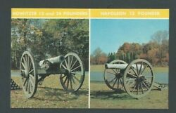 Post Card Howitzer Canons 12 Pounder And 24 Pounder