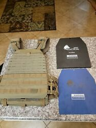 5.11 Tactical 56100 Tactec Plate Carrier Vest - Coyote Nwt Ruck Crossfit
