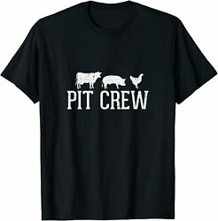 New Limited Pit Crew Cow Pig Chicken Barbecue T-shirt
