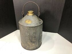 Rare Antique Dressel Railroad Oil Can By Iron Clad Mfg.co.