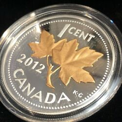 2012 Farewell To The Penny 1/2 Oz. Fine Silver With Selective Pink Gold Plating