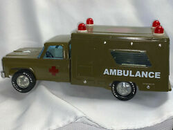 Collectible Vtg Pressed Steel Nylint Toys U.s. Army 41458 Ambulance Truck