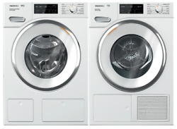 Miele 24 Front Load Smart Wwh860wcs Washer And Twi180wp 24 Electric Dryer Set