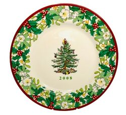 Spode Christmas Tree 2008 70th Anniversary 8 Annual Collector Plate Unused Tags
