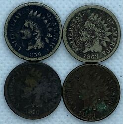 1859 1863 1880 1884 Indian Head Pennies Cents United States Coin 1c Small Cent