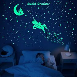 353 PCS Glow in Dark Stars and Moon Castle Glowing Unicorn for Ceiling and Wa... $12.99