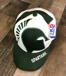 The Game Big Logo Msu Spartans Michigan State Snapback Hat New With Tag Nwt