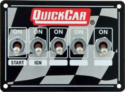 Quickcar Racing Products 4-1/8 X 3 In Dash Mount Switch Panel P/n 50-1714