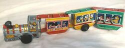 Working 1950's Marx Tin Litho Wind-up Disneyland Train In Excellent Condition