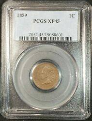 1859 Indian Head Cent Pcgs Xf45 2052.45/19088601 Exquisite Coin Rare