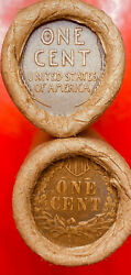 1909 Vdb / 1912-p And 1910-p / Indian Original Bank Wrap Lincoln Wheat Penny Rolls