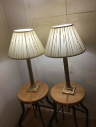 A Pair Of Georgian Table Lamps Two Hundred Years Old Massive Price Cut