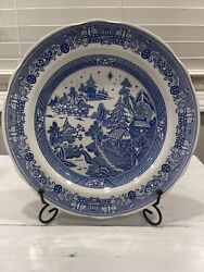 Spode Rare Blue/white Dinner Plate Willow Star Blue Room Collection Christmas