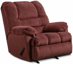 Big Red Wine Oversized Rocker Recliner Arm Chair Recliners Armchair Large Chairs