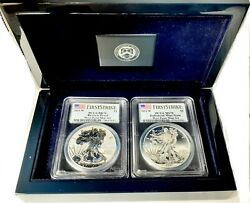 2013 W Silver Eagle 🔥 Two-coin West Point Mint Set Reverse And Enhanced Proof 👀