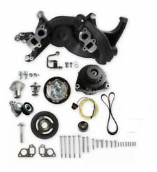 Holley 20-187bk Mid-mount Race Accessory System- Black Finish No Power-steering