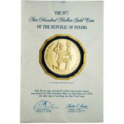 Panama 1977 Discoverer Of The Pacific Ocean 500 Balboa Gold Proof Coin Sku 119