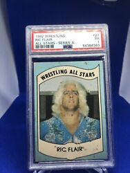 1982 Wrestling All Stars Series A Ric Flair Rc Rookie Card 27 Psa Graded