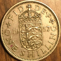 1957 Uk Gb Great Britain One Shilling