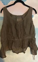 Magnolia Pearl Vintage Top In 100 Cotton Gauze In Brown Os