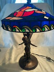Disney Stained Glass Style Tinker Bell Lamp Very Rare Limited Edition