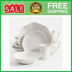 Country Crest Dinnerware Set Of 16 Stoneware dinner set with full service for