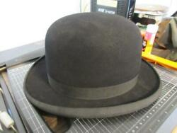 Antique Used Mallory Mens Bowler Hat Size 7