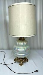Vintage Ef Ef Industries Inc Lamp, Pearl Bubble Style - Model No 519 Made In...