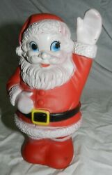 Vintage Sanitoy Inc. Rubber Squeaky Toy Santa Claus With Working Squeaker
