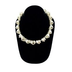 Pomellato 67 Sterling Silver Ringed Chain Link Necklace