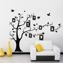 Family Tree Wall Decal Sticker Removable Vinyl Photo Pictures Frame Black USA