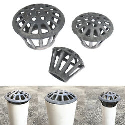 Roof Drain Pipe Iron Floor Drain Balcony Downspout Strainer 75-160mm Grilleand