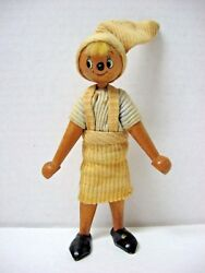 Old Wooden Pinocchio Toy Original Outfit Looks Like Marionette